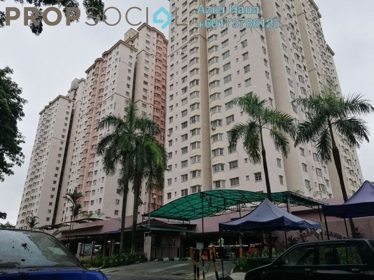 Apartment For Sale in Mawar Apartment, Sentul Freehold Semi Furnished 3R/2B 360k