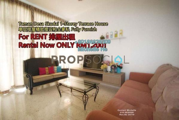 Terrace For Rent in Taman Desa Skudai, Skudai Freehold Fully Furnished 3R/2B 1.2k