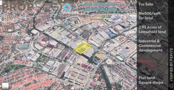 Land For Sale in Section 13, Petaling Jaya Leasehold Unfurnished 0R/0B 66m