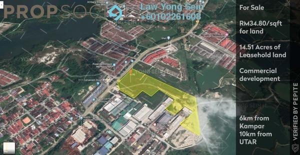 Land For Sale in Taman Kolej Perdana, Kampar Freehold Unfurnished 0R/0B 22m