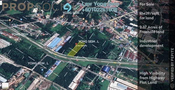 Land For Sale in Jenjarom, Selangor Freehold Unfurnished 0R/0B 4.03m