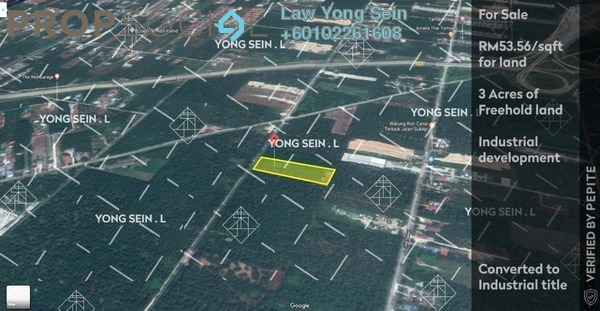 Land For Sale in Jenjarom, Selangor Freehold Unfurnished 0R/0B 70m