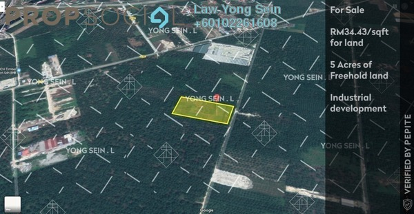 Land For Sale in Jenjarom, Selangor Freehold Unfurnished 0R/0B 7.5m