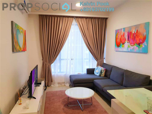 Condominium For Rent in Eclipse Residence @ Pan'gaea, Cyberjaya Freehold Fully Furnished 2R/2B 1.4k