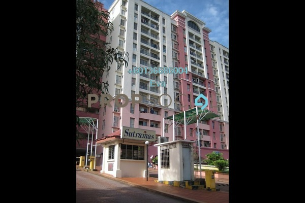 Apartment For Rent in Sutramas, Bandar Puchong Jaya Freehold Semi Furnished 3R/0B 1k