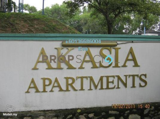 Apartment For Rent in Akasia Apartment, Pusat Bandar Puchong Freehold Semi Furnished 3R/2B 1k