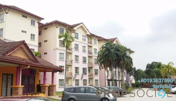 Apartment For Rent in Delima Apartment, Bukit Jelutong Freehold Unfurnished 3R/2B 1k