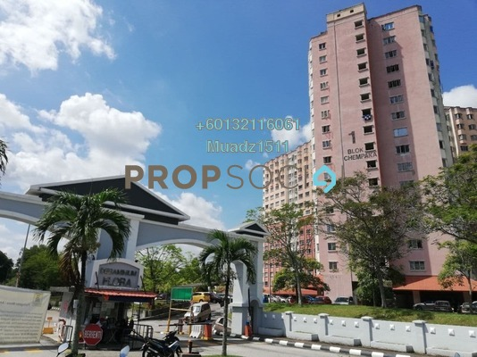 Apartment For Sale in Desaminium Flora, Bandar Putra Permai Freehold Semi Furnished 3R/2B 209k