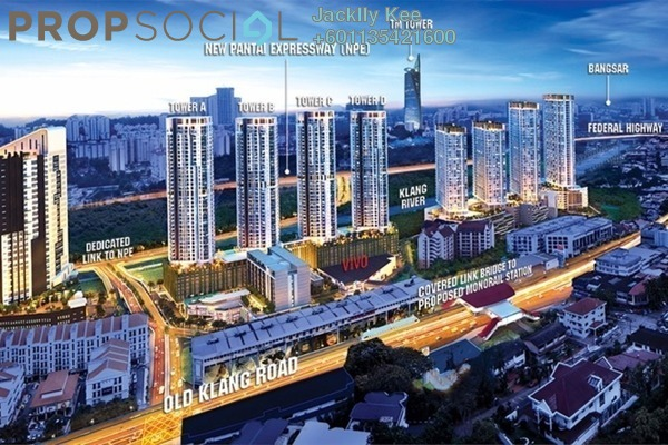 Condominium For Sale in Tria Residences @ 9 Seputeh, Old Klang Road Freehold Fully Furnished 2R/2B 620k
