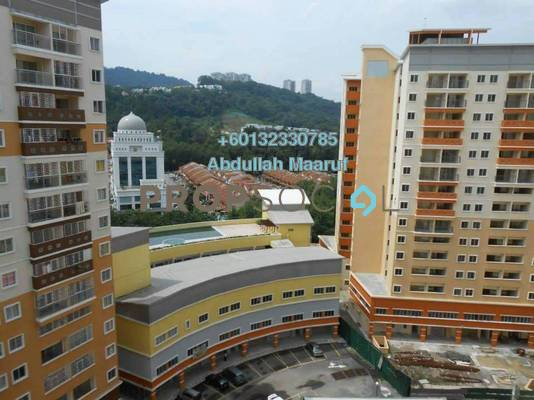 Apartment For Rent in Residensi Bistaria, Ukay Freehold Semi Furnished 3R/2B 1k