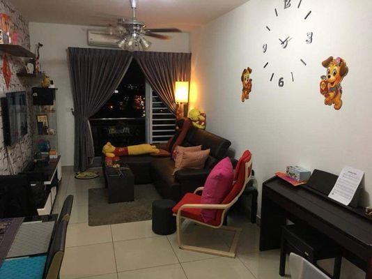 Condominium For Rent in Taman Mount Austin, Tebrau Freehold Fully Furnished 2R/1B 1.35k