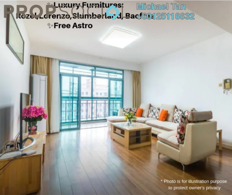 Condominium For Rent in Laman Baiduri, Subang Jaya Freehold Fully Furnished 3R/3B 3.2k