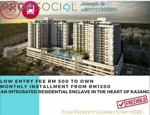 Apartment For Sale in Taman Sutera Kajang, Kajang Freehold Unfurnished 2R/2B 370k