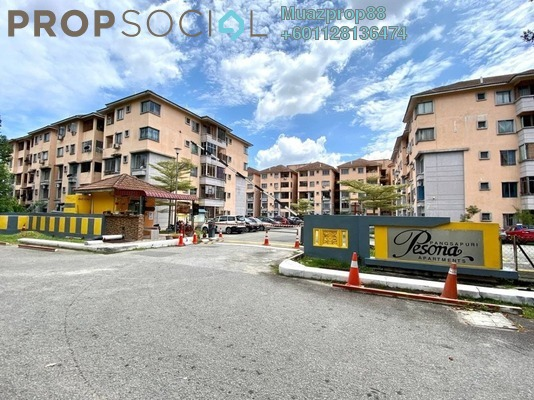 Apartment For Sale in Pesona Apartment, Kajang Freehold Semi Furnished 3R/2B 250k