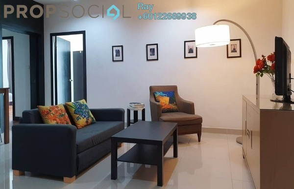 Serviced Residence For Rent in Ritze Perdana 2, Damansara Perdana Freehold Fully Furnished 2R/1B 1.7k