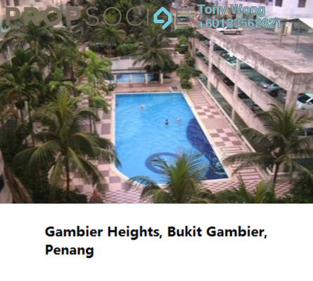 Condominium For Rent in Gambier Heights, Bukit Gambier Freehold Fully Furnished 3R/2B 1.2k