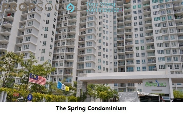 Condominium For Rent in The Spring, Jelutong Freehold Unfurnished 3R/2B 1.1k