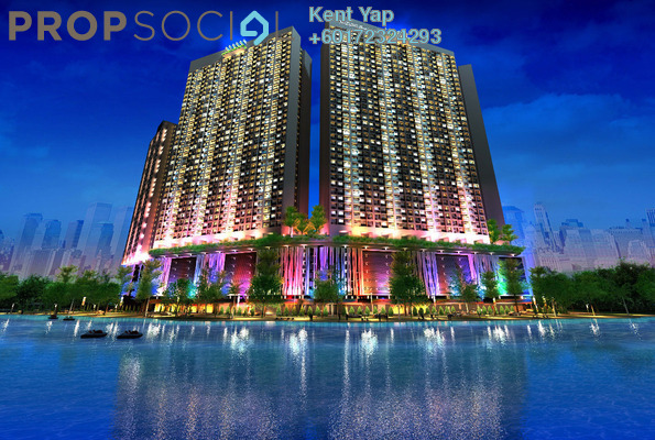 Condominium For Sale in Taman Kepong Indah, Kepong Freehold Unfurnished 3R/3B 400k