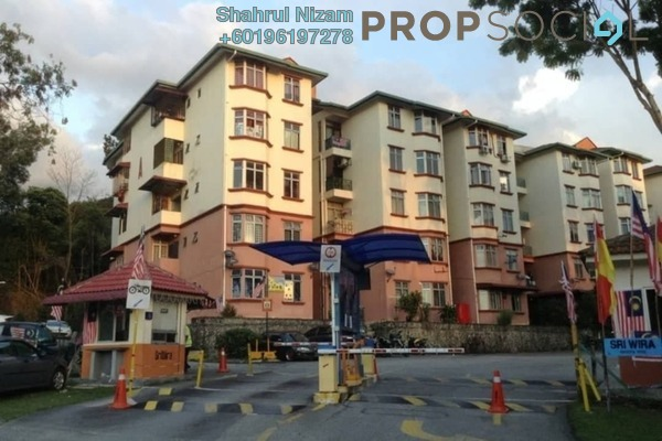 Apartment For Sale in Sri Wira Apartment, Ukay Freehold Semi Furnished 3R/2B 300k