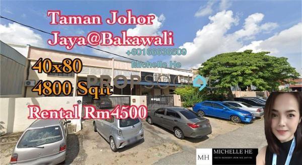 Factory For Rent in Taman Johor Jaya, Johor Bahru Freehold Unfurnished 0R/0B 4.5k