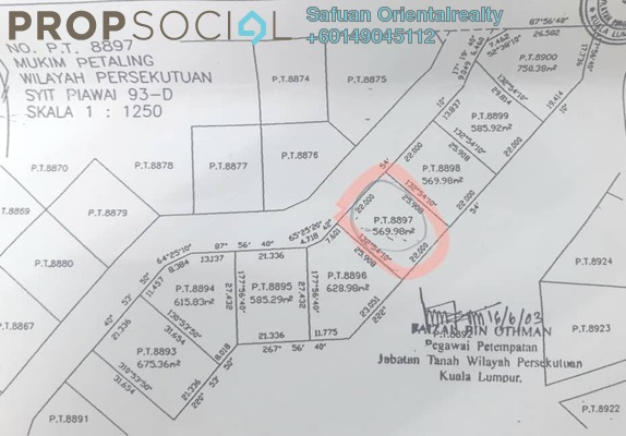 Land For Sale in Jalil Sutera, Bukit Jalil Leasehold Unfurnished 0R/0B 1.38m
