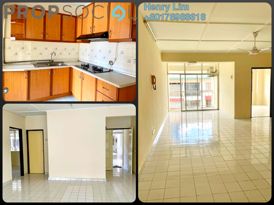 Apartment For Rent in Ixora Apartment, Pudu Freehold Semi Furnished 3R/2B 1.45k