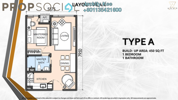 Condominium For Sale in Axon, Bukit Bintang Freehold Fully Furnished 2R/2B 0translationmissing:en.pricing.unit
