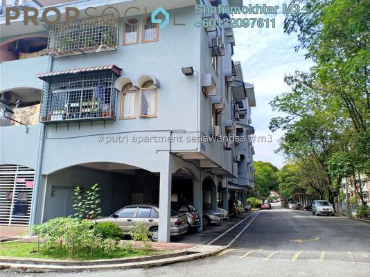Condominium For Sale in Putri Apartment, Setiawangsa Freehold Semi Furnished 3R/2B 450k