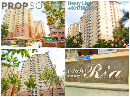 Condominium For Rent in Endah Ria, Sri Petaling Freehold Fully Furnished 3R/2B 1.35k