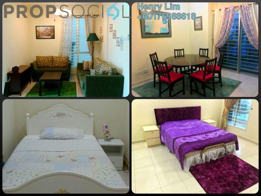 Apartment For Rent in Suria Apartment, Kota Damansara Freehold Fully Furnished 3R/2B 1.8k