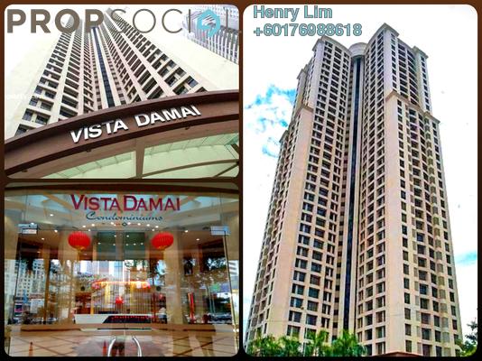 Condominium For Sale in Vista Damai, KLCC Freehold Unfurnished 1R/1B 572k