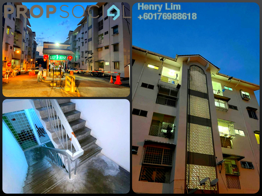 Apartment For Sale in Lily & Rose Apartment, Petaling Jaya Freehold Unfurnished 3R/2B 420k