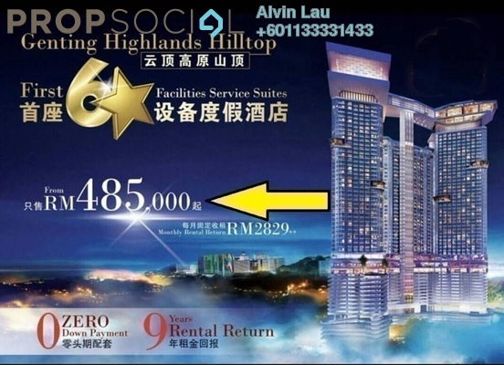 SoHo/Studio For Sale in Grand Ion Majestic, Genting Highlands Freehold Fully Furnished 1R/1B 485k