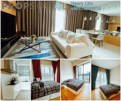 Serviced Residence For Rent in Setia Sky Residences, KLCC Freehold Fully Furnished 3R/3B 4k