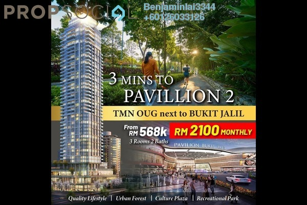 Condominium For Sale in The Maple Residences, Old Klang Road Freehold Semi Furnished 3R/2B 690k