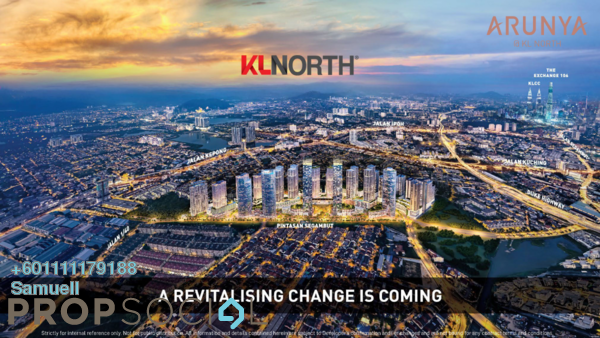 Condominium For Sale in Arunya @ KL North, Jinjang Freehold Semi Furnished 2R/1B 410k