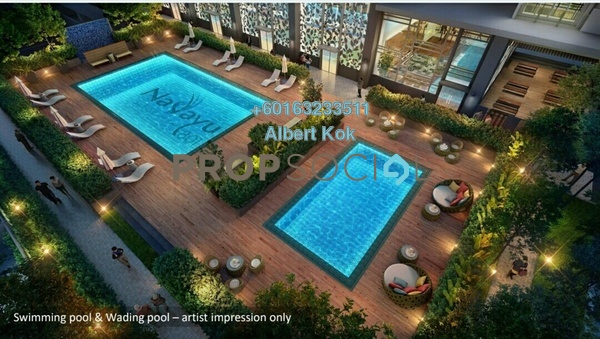 Condominium For Sale in Nadayu 801, Subang Leasehold Unfurnished 0R/0B 720k