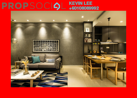 Condominium For Sale in Aria, KLCC Freehold Fully Furnished 1R/1B 1.26m