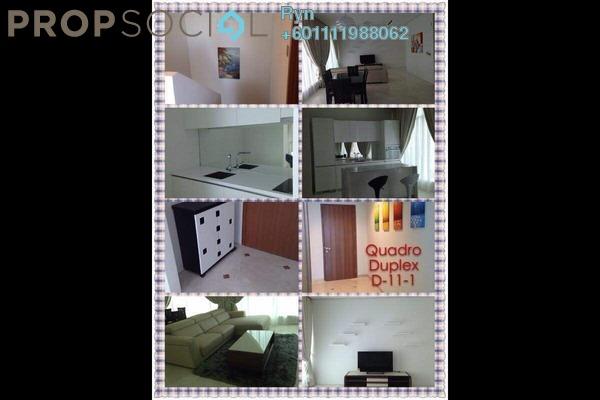 Condominium For Sale in Quadro Residences, KLCC Freehold Semi Furnished 3R/2B 2.14m