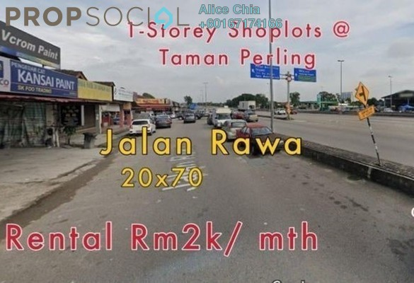 Shop For Rent in Taman Perling, Iskandar Puteri (Nusajaya) Freehold Semi Furnished 0R/0B 2k