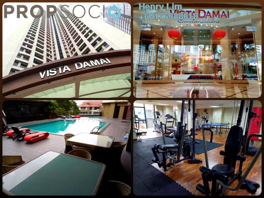 Condominium For Sale in Vista Damai, KLCC Freehold Fully Furnished 3R/3B 945k