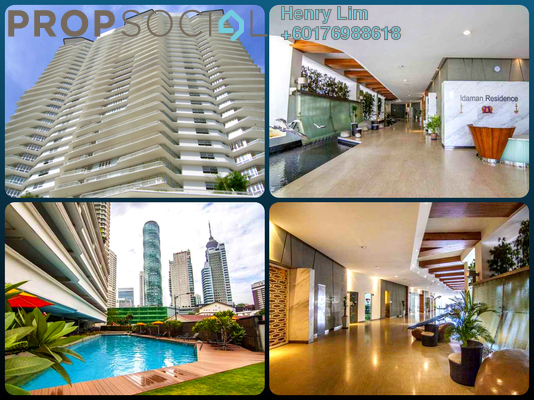 Condominium For Sale in Idaman Residence, KLCC Freehold Fully Furnished 3R/3B 1.35m