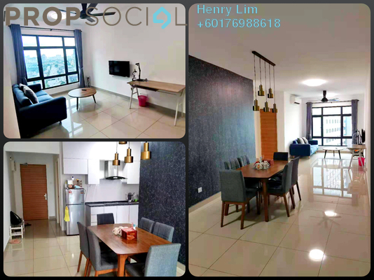 Serviced Residence For Rent in Pearl Suria, Old Klang Road Freehold Fully Furnished 3R/2B 2.5k