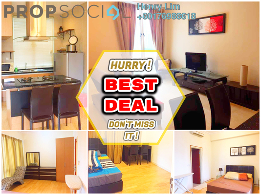 Serviced Residence For Rent in 231 TR, KLCC Freehold Fully Furnished 2R/1B 2k
