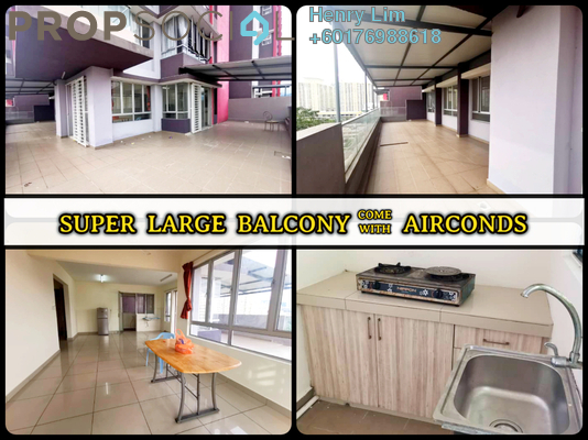 Serviced Residence For Rent in Platinum Lake PV21, Setapak Freehold Semi Furnished 3R/2B 1.6k