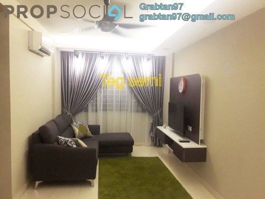 Apartment For Sale in Suria Ixora, Setia Alam Freehold Semi Furnished 3R/2B 330k