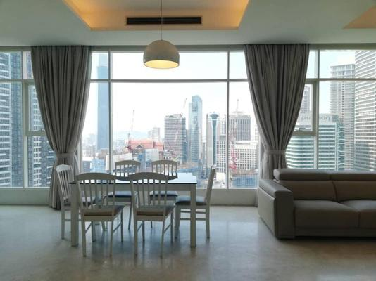 Duplex For Rent in Quadro Residences, KLCC Freehold Fully Furnished 3R/2B 7.5k
