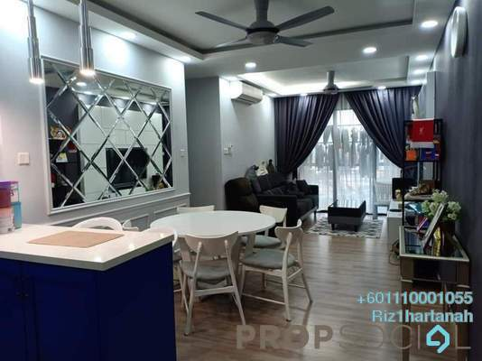 Condominium For Sale in KL Traders Square, Kuala Lumpur Freehold Semi Furnished 3R/2B 490k