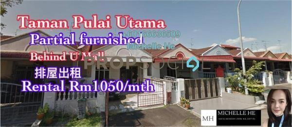 Terrace For Rent in Taman Pulai Utama, Pulai Freehold Semi Furnished 3R/2B 1.05k