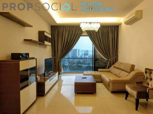 Condominium For Rent in The Horizon Residences, KLCC Freehold Fully Furnished 3R/3B 6k